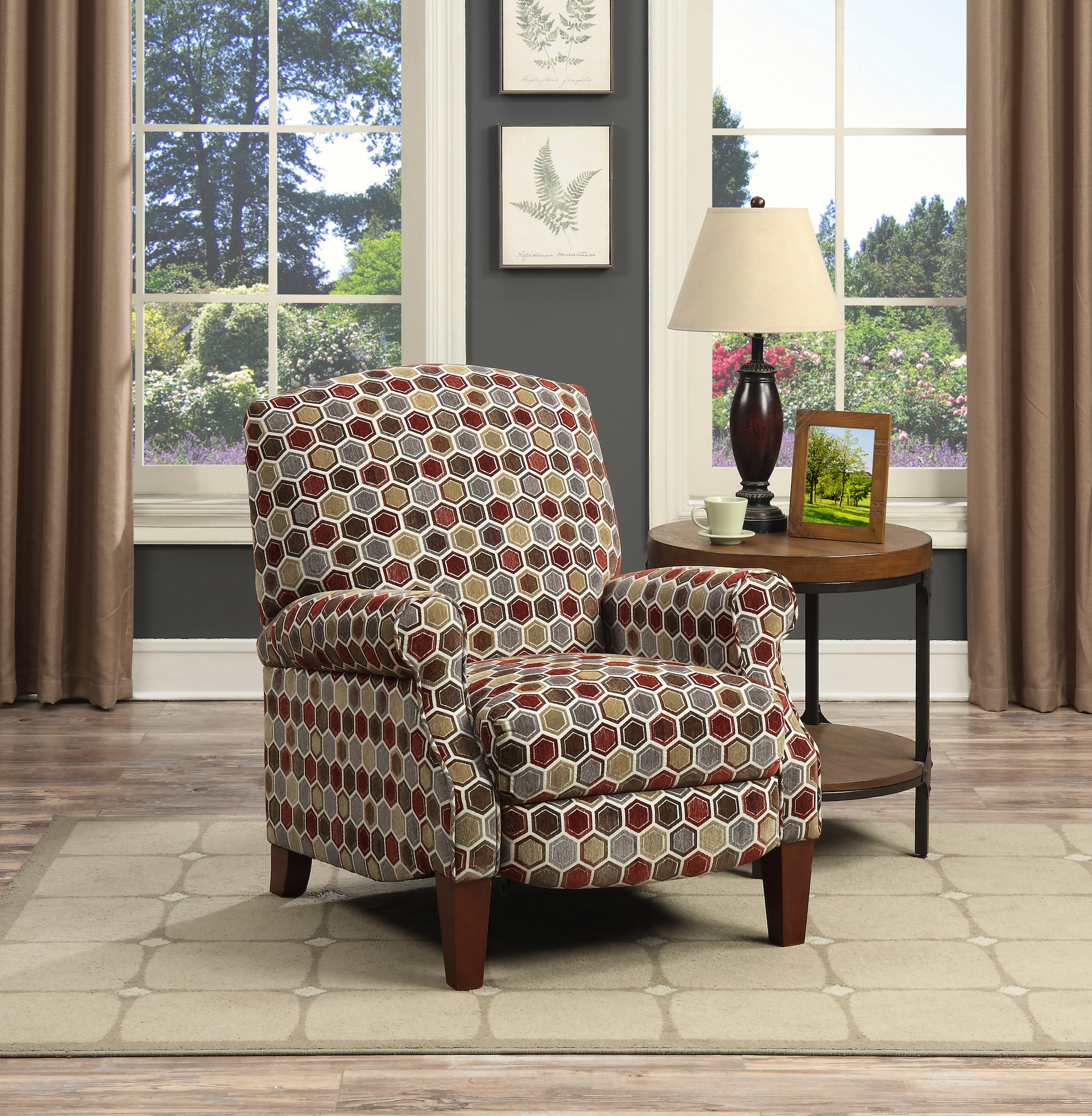 2000895 Brooke Fabric Push Back Recliner - Closed Low Res